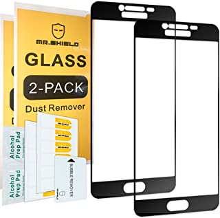 [2-Pack]-Mr.Shield for Samsung Galaxy C5 [Tempered Glass] [Full Cover] [Black] Screen Protector with Lifetime Replacement