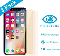 (3-Pack) Anti-Blue Light Screen Protector for Apple iPhone Xs and iPhone X (5.8