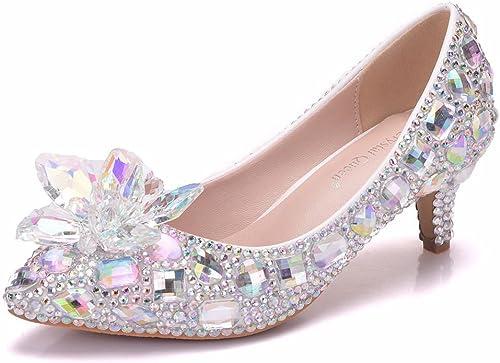 MesLes dames dames dames Chaussures De Mariée De Mariage Cristal Diamant Party & Soirée Stiletto Talon Taille 35 à 42 9c5