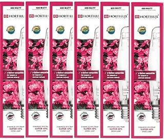 (6) Eye Hortilux 400W Super HPS Hydroponics Enhanced Spectrum Grow Light Bulbs
