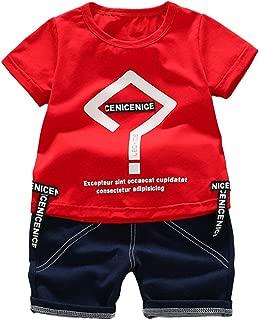 MoO1deer Baby Clothes Conjunto de Ropa para niño y niña, Lindo Juego de Camisetas de algodón para día Festivo
