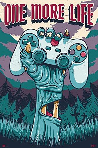 Grupo Erik Editores GPE5230 - Poster con diseño Gamer One More Life, 61 x 91.5 cm