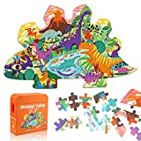Puzzle Dinosauri Bambini, 105 Pezzi Jigsaw Dinosauro Puzzle Educativi 3 4 5 6 7 8 Anni, Giochi Bambini Puzzle, Animal Puzzle Bimbi, Ragazza Ragazzo Regalo Puzzle