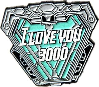 Senning I Love You 3000 Times Brooch Iron Man Tony Stark Lapel Pins