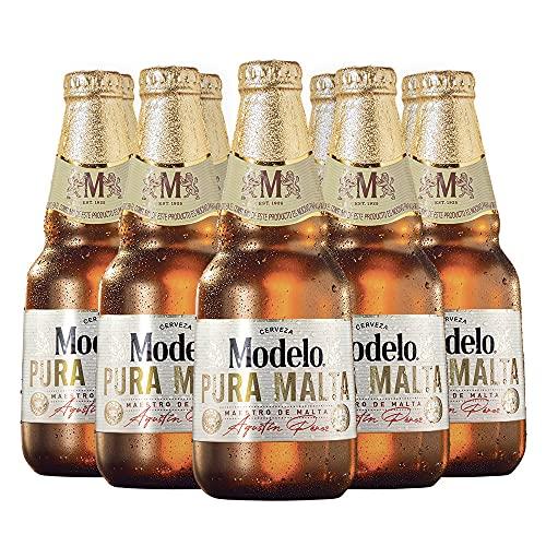 Cerveza Modelo Pura Malta 12 botellas de 355ml