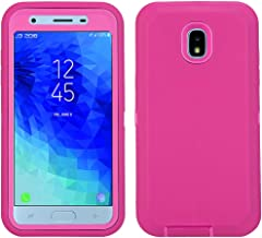 Annymall Galaxy J7 2018 Case, Heavy Duty Shockproof Defender Armor Protective Cover with Built-in Screen Protector for Samsung J7 2018/ Galaxy J7 Aero/ J7 Refine/ J7 Star/ J7 Crown(2018) (Pink/Rose)