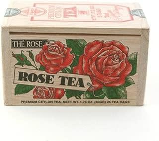 The Metropolitan Tea Company 62WD-618B-022 Rose 25 Teabags in Wood Box