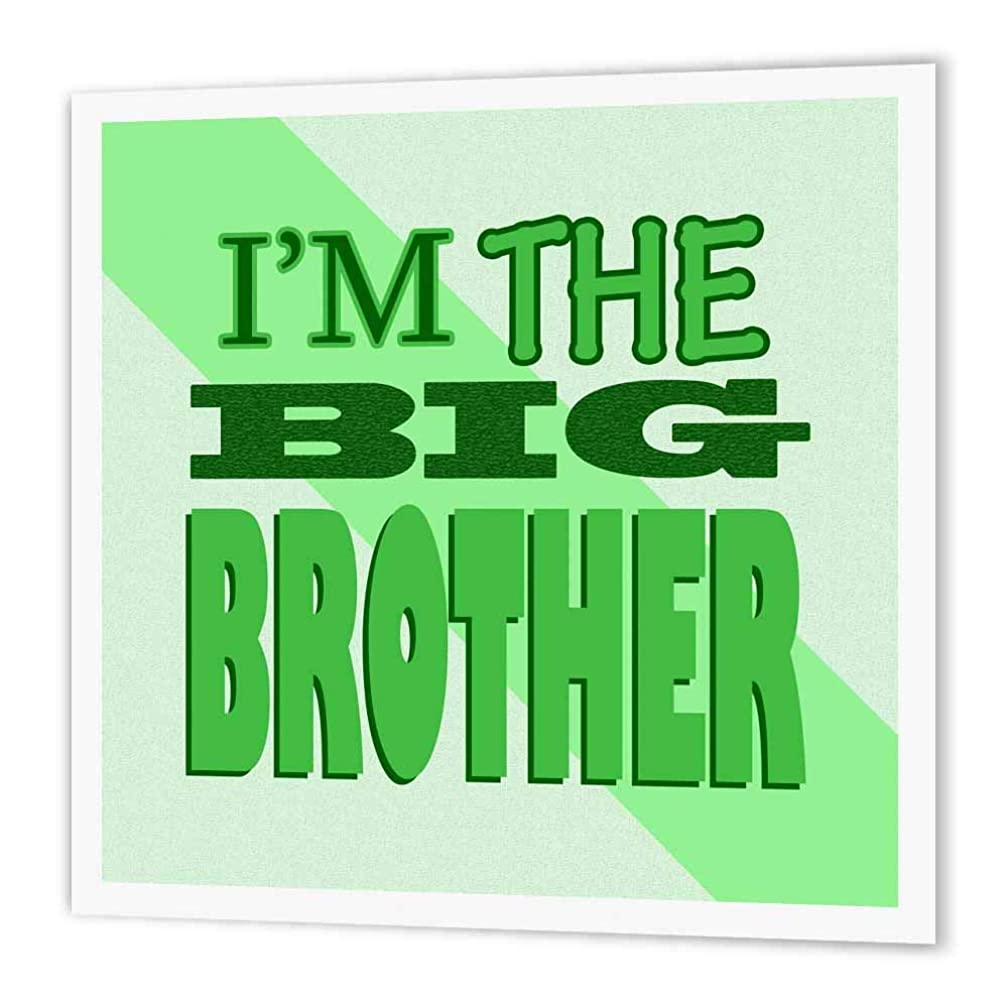 3dRose ht_13831_3 I'm The Big Brother Green-Iron on Heat Transfer Paper for White Material, 10 by 10-Inch