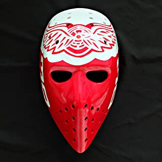 tripple_777 1:1 Custom Vintage Fiberglass Roller Ice Hockey Goalie Mask Ron Low HO109