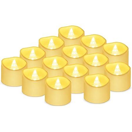 Bougies LED Flamme Vacillante Lumière 14 pcs,Bougies électriques Bougies de noël pour noël, Arbre de noël, pâques, Mariage