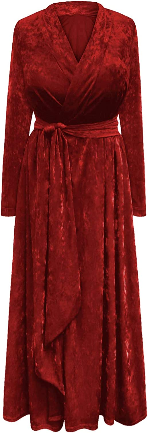 Plus Size Ice Velvet New color Robe Belt Gown Attached shipfree Dressing with