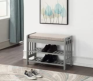 Superb Grey Storage Benches Amazon Com Evergreenethics Interior Chair Design Evergreenethicsorg