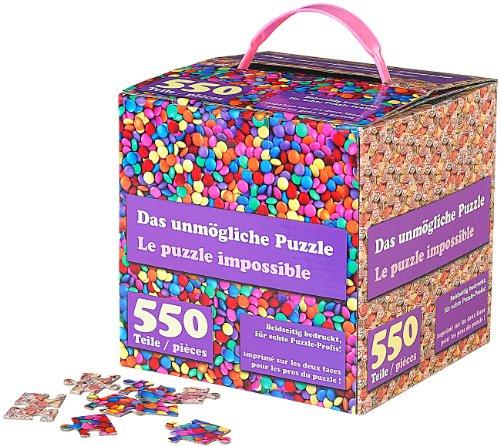 infactory Doppelseitiges Puzzle: Das unmögliche Puzzle: Beidseitig Bedruckt, für echte Profis (Geduldspiel)