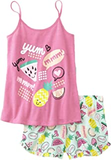 Joe Boxer Girls Pink   Green Watermelon Pajamas Yumm Pineapple Tank Top    Short ... 45a3021ca