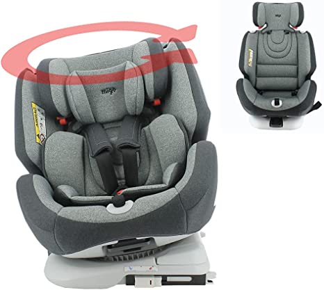 migo ONE 360° swivel car seat group 0+/1/2/3 (0-36kg) - Back to the road 0-18kg - Comfort cover - Side protection (Grey): image
