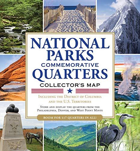 National Parks Commemorative Quarters Collector's Map 2010-2021 (includes both mints, plus the rare West Point quarter release!)