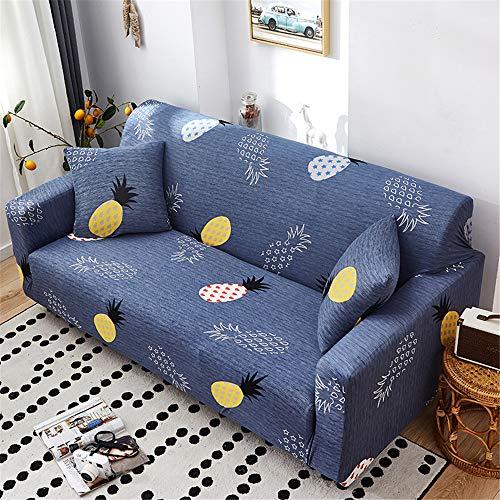 Surwin Funda de Sofá Elástica para Sofá de 1 2 3 4 plazas, Impresión Universal Cubierta de Sofá Cubre Sofá Funda Furniture Protector Antideslizante Sofa Couch Cover (piña,1 Plaza - 90-140cm)