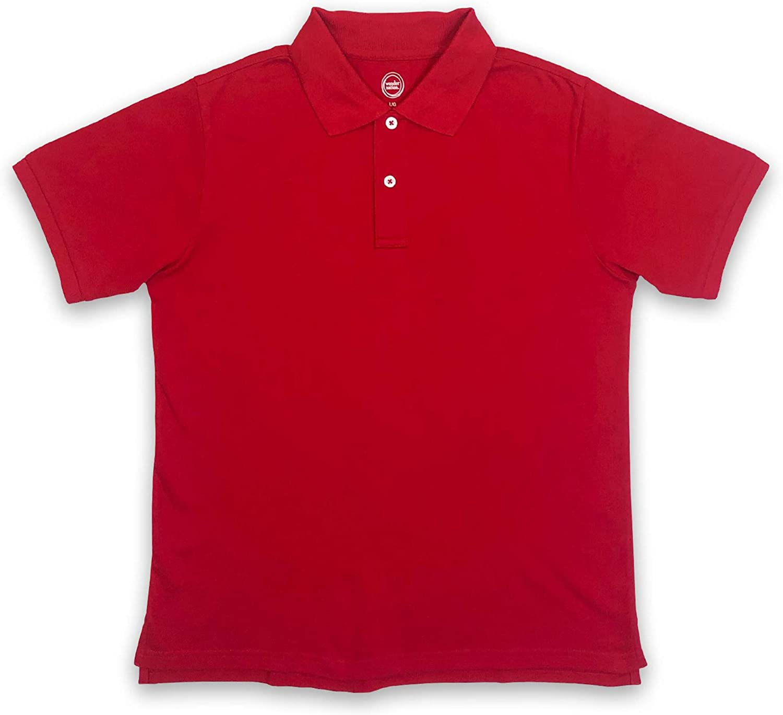 WonderNation Boys Short-Sleeve Premium Stretch Pique Polo Shirt