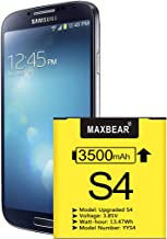 Galaxy S4 Battery, (Upgraded) MAXBEAR 3500mAh Li-Polymer Replacement Battery EB-B600BE..
