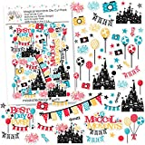 Paper Die Cuts - Magical Moments - for Disneyland Walt Disney World - Over 60 Cardstock Scrapbook Die Cuts - by Miss Kate Cuttables