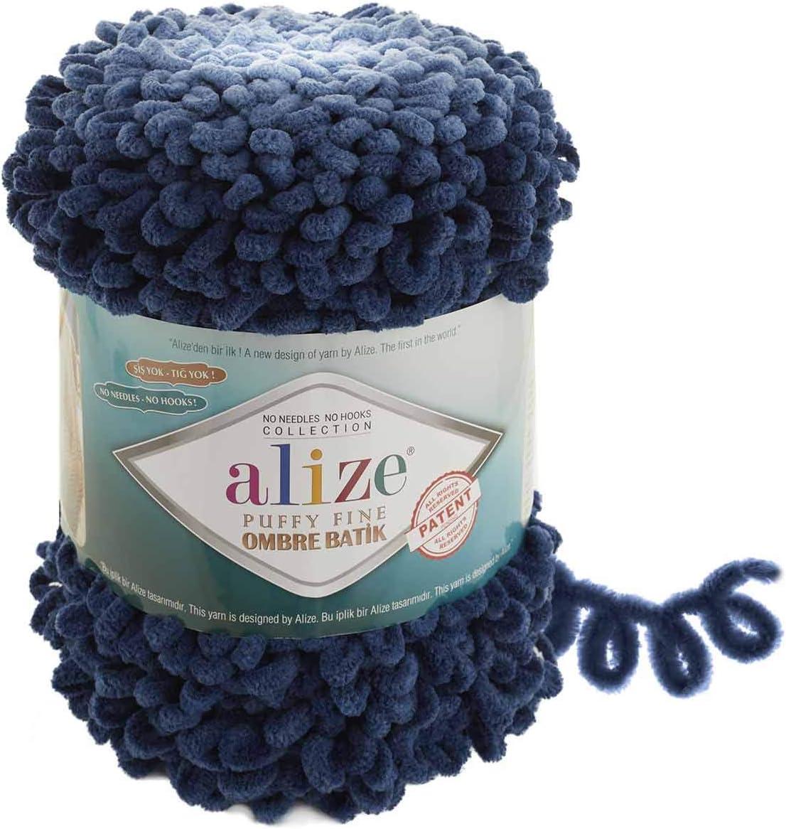 12 skeins Free shipping Alize puffy fine No neddle,Puffy Yarn No hook Velvet yarn Bulky yarn Baby yarn Blanket yarn