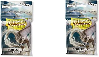 2 Packs Dragon Shield Inner Sleeve Clear Standard Size 100 ct Card Sleeves Individual Pack