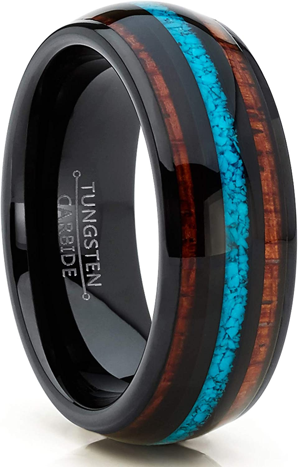 Metal Masters Co. Unisex Men's Wedding store Tungsten Black Max 81% OFF Band Engag