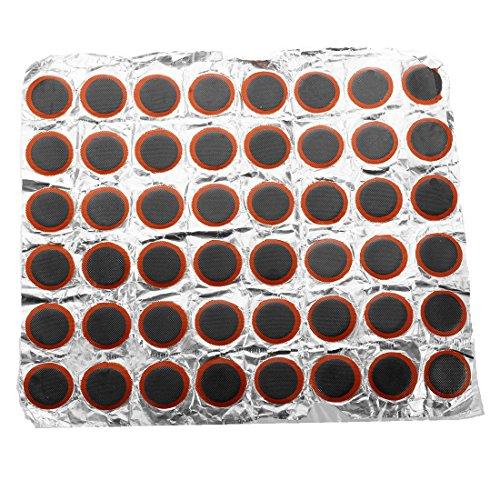 SODIAL(R) 48 x 25 mm Rembourrage rond en caoutchouc de haute qualite pour piece de reparation de pneu / pneu velo