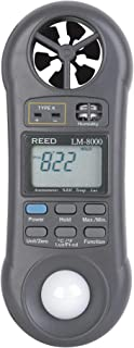 REED Instruments LM-8000 6-in-1 Multi-Function Environmental Meter (Air velocity/temperature, Ambient Temperature, Humidit...