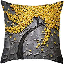 Cushion Cover 45X45 1pc Decorative Throw Pillow Case 18X18inch Digital Print Cherry Blossom Home Decorative Pillow Cover (...