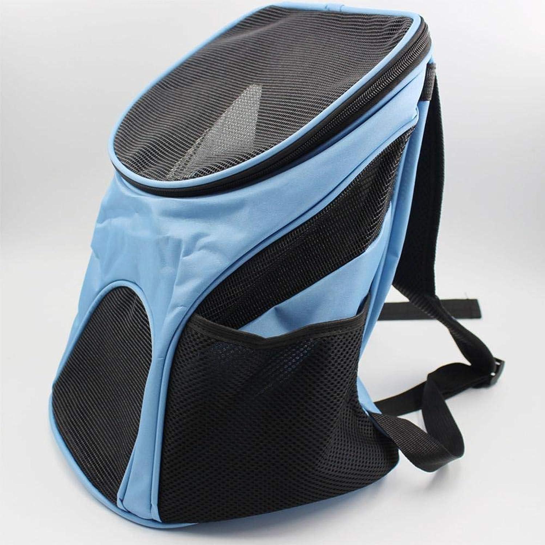 Aoligei Travel Bag Breathable mesh Dog Backpack Double Shoulder Package Chest Front Bag Nylon