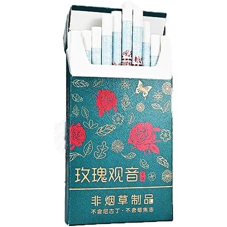 HUWOYMX 牡丹茶タバコこのタバコ、男性と女性の健康タバコ、雲南中国のハーブティータバコ、緑茶茶の煙、スモークティー、ミントティータバコ、きれいな肺の煙、タバコの代替品、100%無煙、100%タールフリー (1パック,ローズティー)
