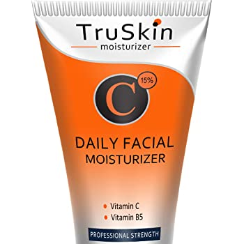 TruSkin Vitamin C Moisturizer Face, Neck & Décolleté Cream for All Skin Types with Vitamin B5 and Green Tea, 2 fl oz