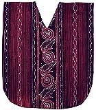 LA LEELA Mujer Kaftan Algodón Túnico Batik Kimono Estilo Más tamaño Vestido para Loungewear Vacaciones Ropa de Dormir & Cada día Cubrir para Arriba Tops Camisolas Playa Violeta_A643