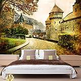 Wongxl 3D Retro Arquitectura Europea De Inglaterra Wallpaper Cafe Paris Hoteles Mural Personalizado Papel De Pared 3D Papel Pintado Wallpaper Mural Fresco 300cmX250cm