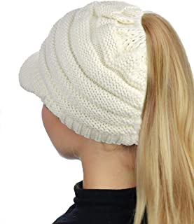 BUUFAN Chic Winter Beanie Outerdoor Hat Scarf Set Warm Knit Hat Thick Knit Skull Cap for Men Women