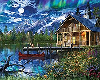 Springbok's 1000 Piece Jigsaw Puzzle Moon Cabin Retreat - Made in USA