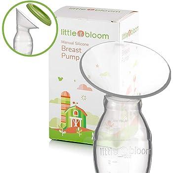 Tire-lait en silicone par Littlebloom – Tire-lait manuel sans BPA mains libres avec verrouillage et couvercles pour conservation