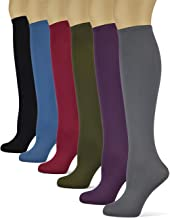 product image for Sox Trot Women's Solid Knee High Trouser Socks, Silky Soft Thin Material, Tall Boot Socks 3 Pairs