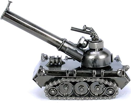 encuentra tu favorito aquí GFEI Tanque de de de Hierro Modelo Metal Rocket cañon Barril Cuatro casa Decoracion Decoracion Colección Militar artesanias (14  8  15cm),C  tienda en linea
