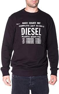 Diesel S-Gir B5 Crew Neck Logo Sweatshirt Black