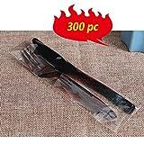 MALY 50 Pc Tenedor Cuchara de Sopa Desechables de plástico
