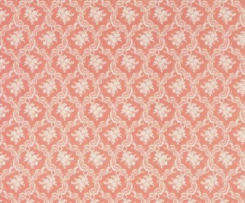 Tapete, rosa Rosenbouquets für das Puppenhaus