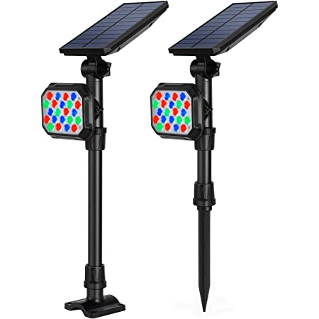 LED RGB Solar Powered Lamp Outdoor Garden Waterproof Landscape Solar Spot Lights