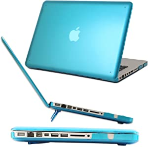 iPearl mCover Hard Shell Case with Free Keyboard Cover for Model A1278 13-inch Regular Display Aluminum Unibody MacBook Pro - Aqua