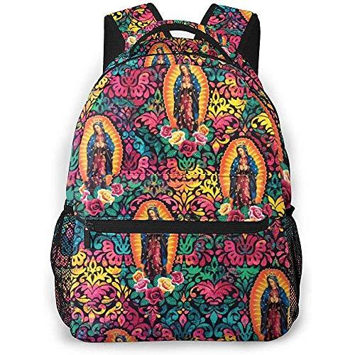 ABRAN Backpack Mochila unisex Virgin Mary Catholic Catholic Bookbag Bolsa ligera para computadora portátil para viajes escolares Camping al aire libre