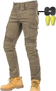 CBBI WCCI Sportliche Motorrad Hose Mit Protektoren Motorradhose mit Oberschenkeltaschen