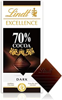 Lindt瑞士莲排装70%可可黑巧克力100g (进口)