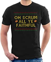 Rugby Christmas Oh Scrum All Ye Faithful Men's T-Shirt