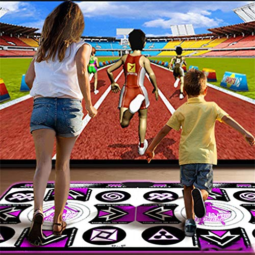 Mingbai Dance Mat for Kids and Adults for Home -Yoga Fitness Body Building Dancing Mat, Wireless Double User Dancer Step Pads Sense Game English for PC TV